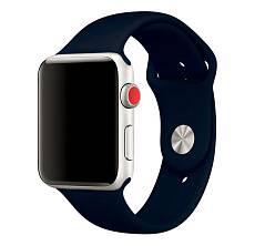 Ремешок Sportband для Apple Watch 42/44mm силиконовый (Темно-синий)