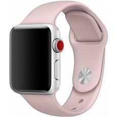 Ремешок Sportband для Apple Watch 42/44mm силиконовый (Розовый песок)
