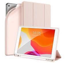 Чехол Dux ducis для iPad 10.2 Silicon, sort touch с отсеком для стилуса (Розовый)