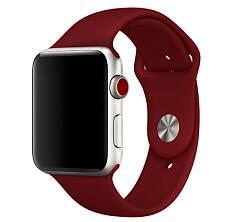 Ремешок Sportband для Apple Watch 42/44mm силиконовый (Бордовый)