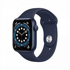 Часы Apple Watch Series 6 GPS 40mm Aluminum Case with Sport Band синий / темный ультрамарин MG143