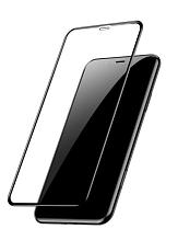 Защитное стекло противоударное Gurdini для iPhone XR/11 Full Screen 6D (Черная рамка)