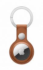 Кожаный брелок для AirTag с кольцом для ключей (Коричневый)