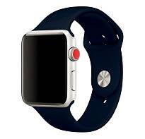 Ремешок Sportband для Apple Watch 38/40mm силиконовый (Темно-синий)
