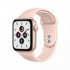 Часы Apple Watch SE GPS 44mm Aluminum Case with Sport Band золотистый/розовый песок MYDR2