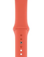 Ремешок Sportband для Apple Watch 38/40mm силиконовый (Спелый клементин)