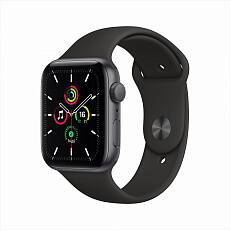 Часы Apple Watch SE GPS 40mm Aluminum Case with Sport Band Серый космос/Черный MYDP2