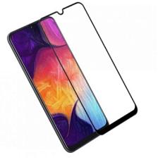 Защитное стекло для Samsung Galaxy A12 (2020) (Черная рамка)