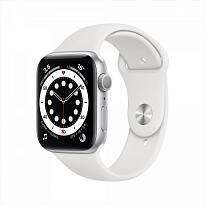 Часы Apple Watch Series 6 GPS 40mm Aluminum Case with Sport Band (серебристый / белый) MG283