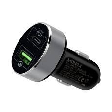 Автомобильное зарядное устройство MOMAX UC10 USB + Type-C Quick Charge 3.0 36W (Черный)