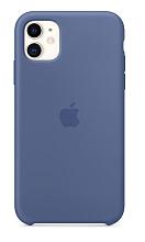 Чехол для Apple iPhone 11 Silicon Case Protect (Синий лён)