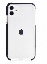 """Чехол Gurdini iPhone 11 6.1"""" Crystal Ice силикон противоударный (Черный)"""