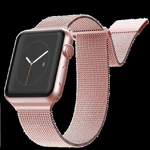 Ремешок Metalband для Apple Watch 38/40mm, миланский сетчатый (Розовое золото)