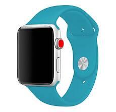 Ремешок Sportband для Apple Watch 42/44mm силиконовый (Голубой)