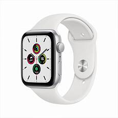 Часы Apple Watch SE GPS 44mm Aluminum Case with Sport Band Серебристый/Белый MYDQ2