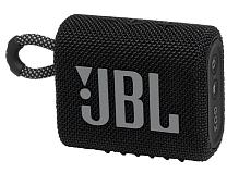 Портативная акустика JBL GO 3 (Чёрная)